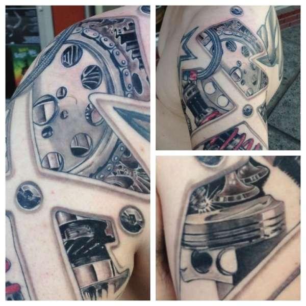 bio car parts tattoo