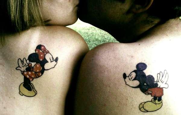 disney tattoo, mickey and minnie tattoo tattoo