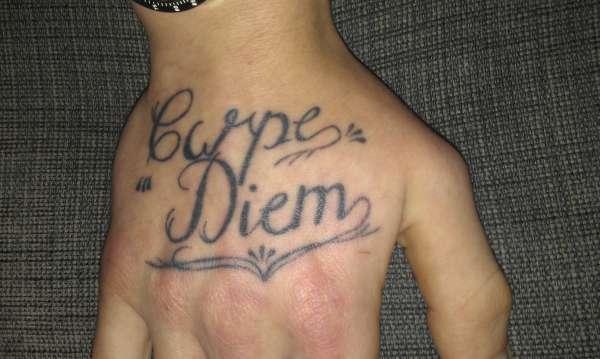 Carpe Diem Hand Tattoo tattoo