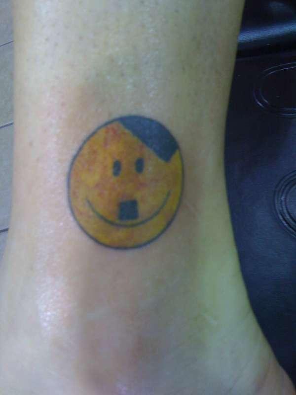 Hitler Smilie Face tattoo
