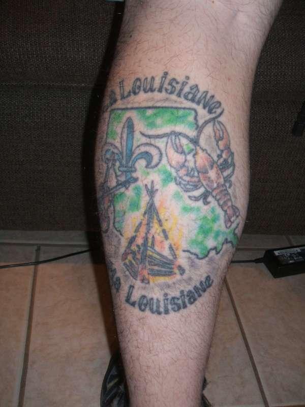 La Louisiane Ma Louisiane tattoo