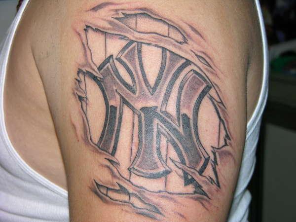 Yankee under the skin tattoo for Under the skin tattoo