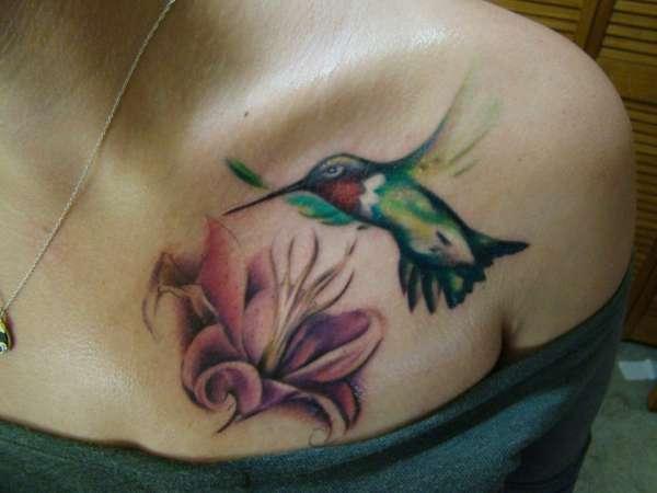 Hummingbird Flower Tattoos: Hummingbird & Flower Tattoo