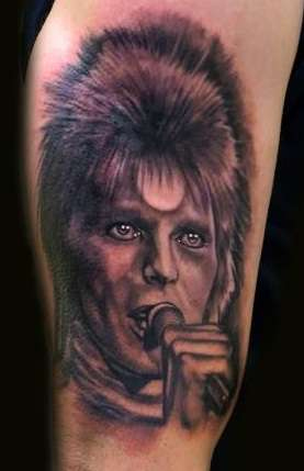 Ziggy Stardust tattoo