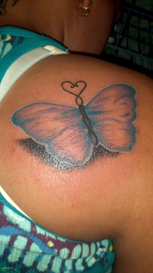 3-d butterfly tattoo
