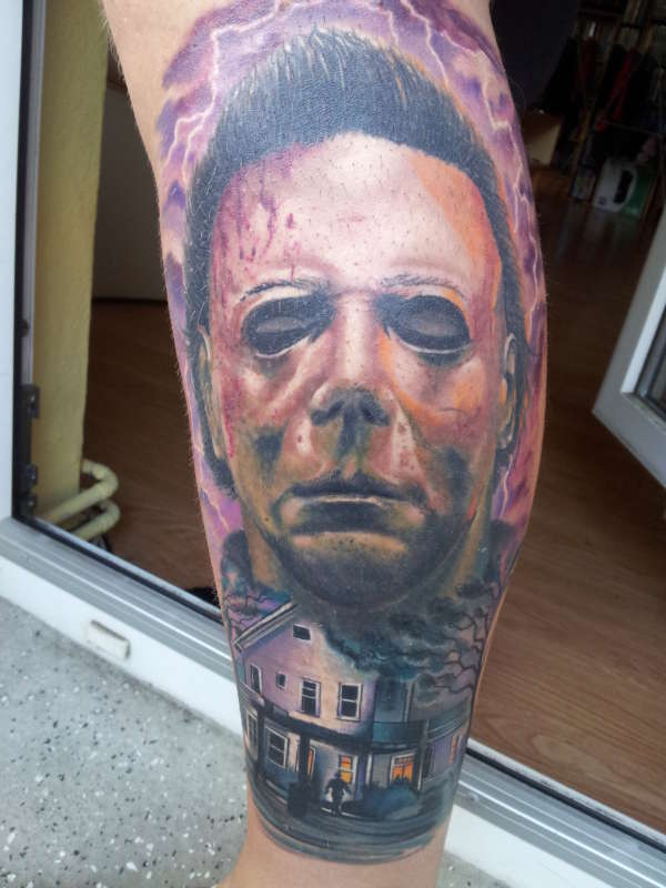Top michael myers mask tattoo images for pinterest tattoos for Michael myers tattoo