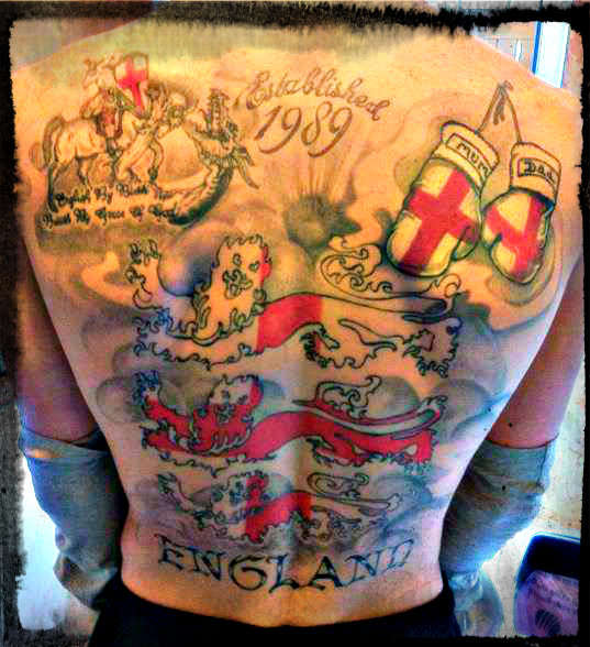 Patriotic Back Piece Tattoo