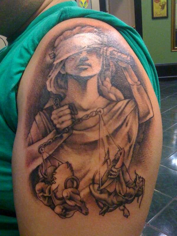 Lady Justice tattoo