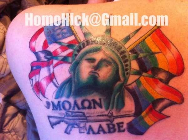 Molon Labe tattoo