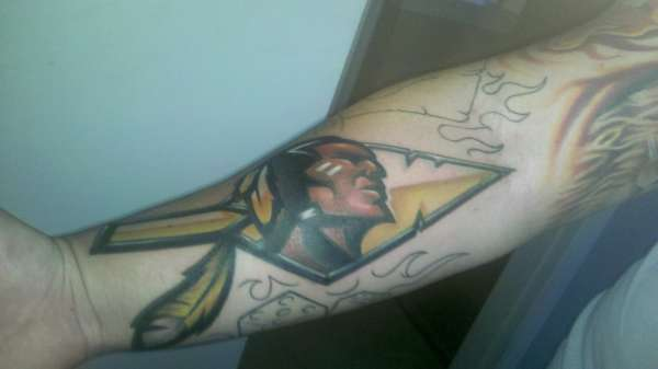 Redskins Decal tattoo