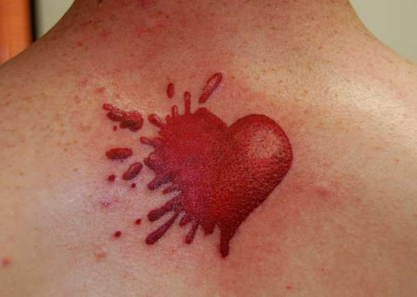 Splatter Heart tattoo