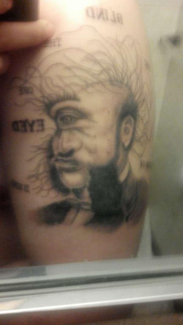 """""""In the land of the blind, the one eyed man is king"""" tattoo"""