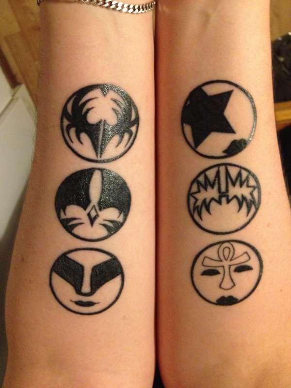 Kiss Iconssymbols Tattoo