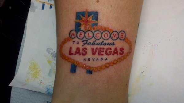 Las vegas sign tattoo for Tattoo in las vegas