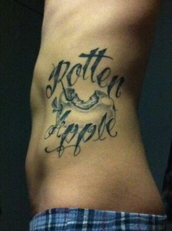 Rotten Apple tattoo