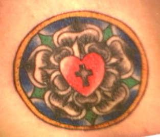 Lutheran Rose tattoo