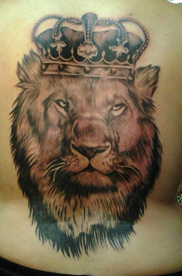 lion of judah back piece tattoo