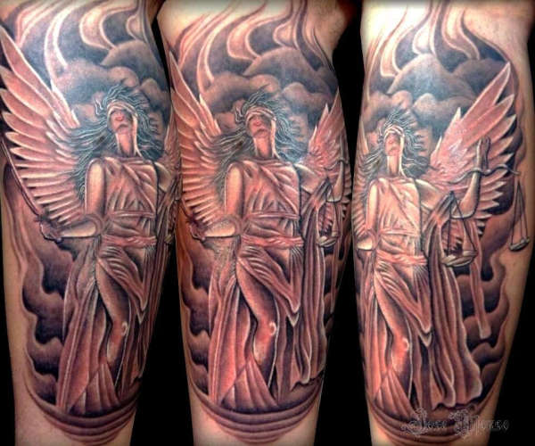 Greek Goddess of Justice tattoo