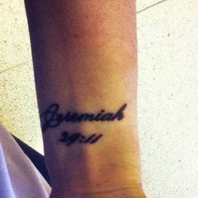 Jeremiah 29:11 tattoo