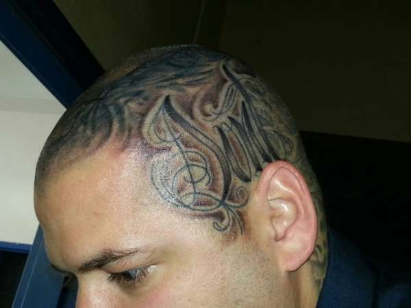 Side finished whole head tattoo for Tattoos on side of head