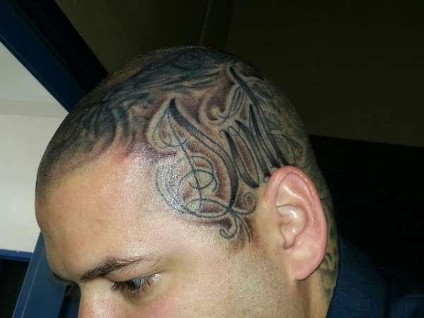 Side finished whole head tattoo for Full head tattoo