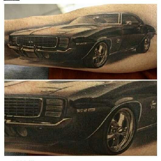 1969 camaro tattoo