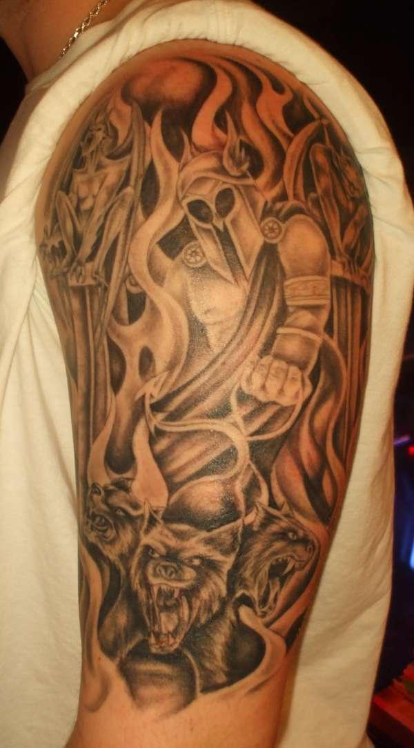Hades & Cerberus tattoo