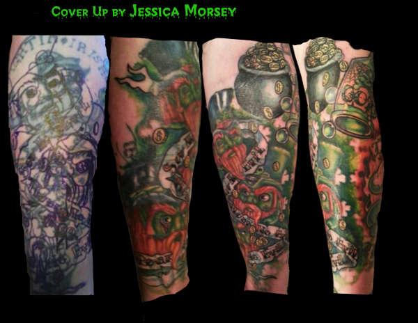 leperchaun cover up tattoo