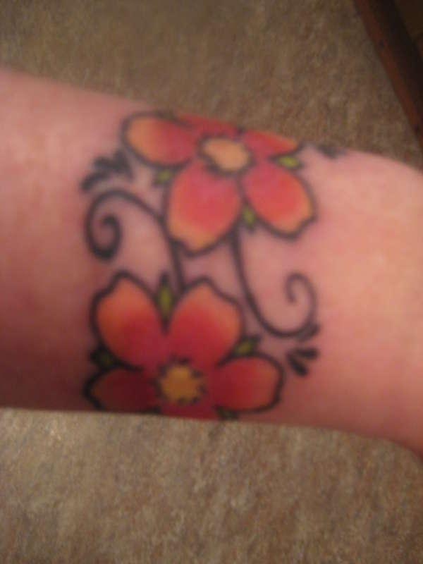 Cherry blossom wrist tattoo for Cherry blossom tattoo wrist