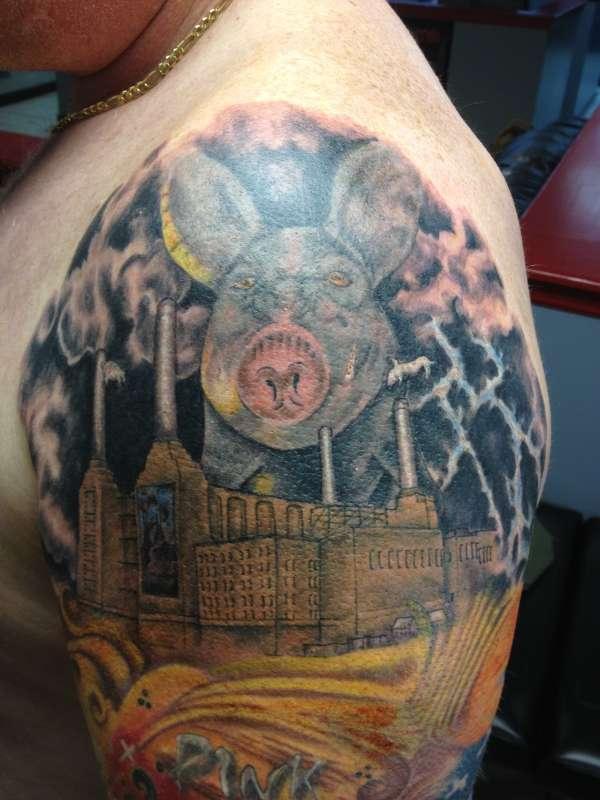 Pink Floyd Pig tattoo