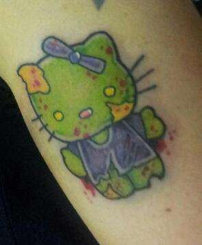 Zombie Hello Kitty tattoo