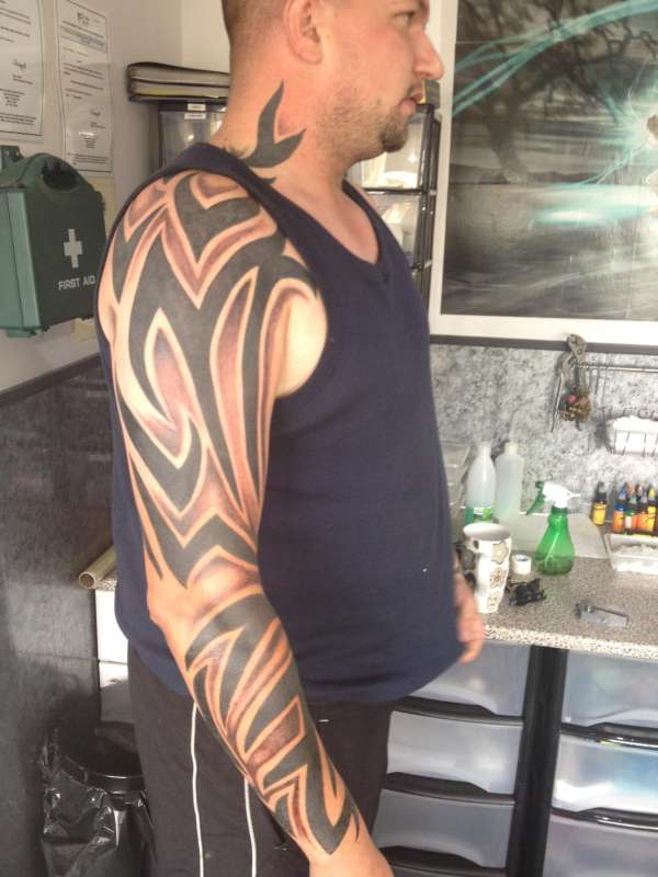 dusk till dawn tribal wiv shading tattoo