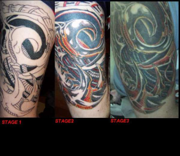 3 part of biotech tattoo