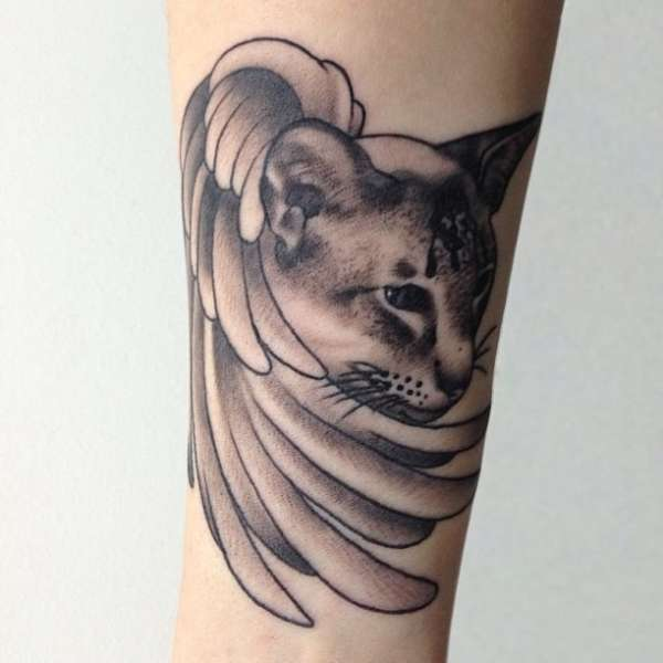 Angel Cat tattoo