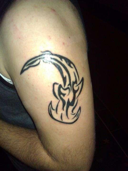 4e31a6b78a403 Tribal Hammerhead Shark tattoo