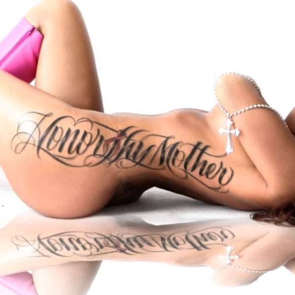 Honor thy mother Breast cancer ribbon tattoo