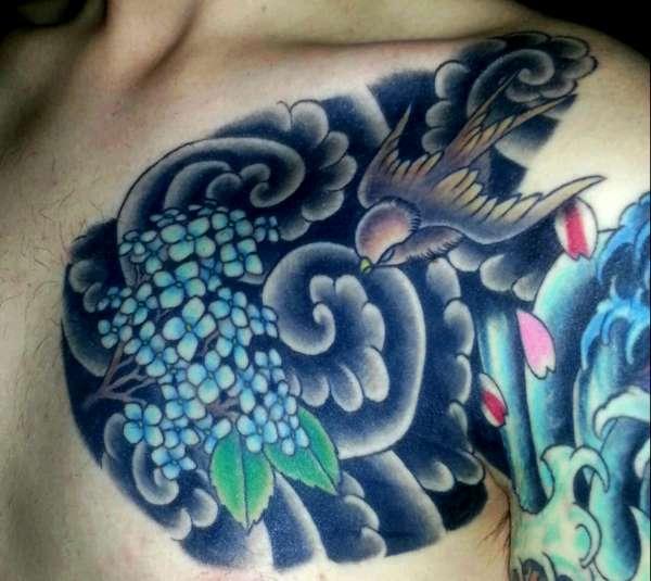 samurai chest plate tattoo. Black Bedroom Furniture Sets. Home Design Ideas