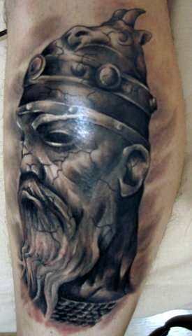 viking sculpture tattoo