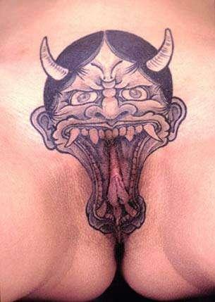 Devil Pussy tattoo