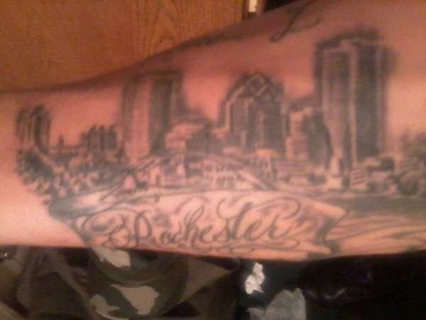 Rochester ny downtown skyline tattoo for Tattoo rochester ny