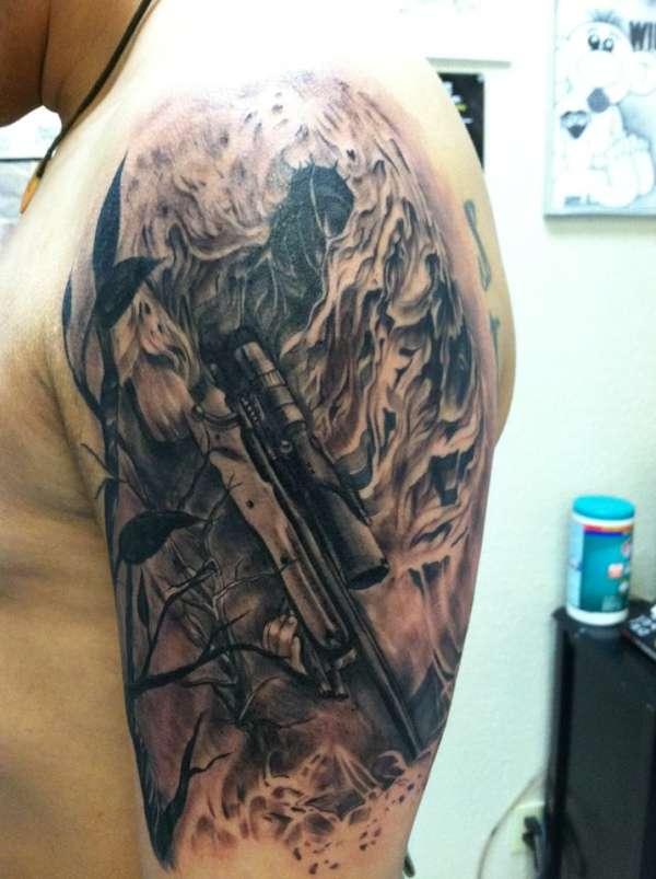 Army Sniper Tattoos Designs