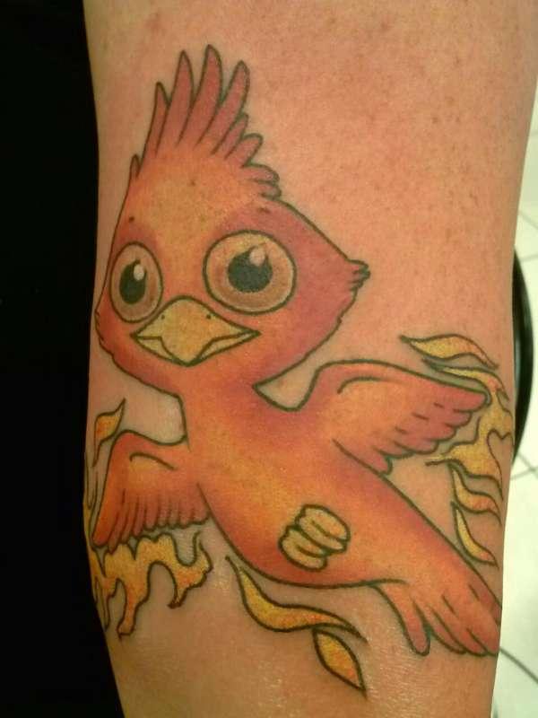 baby Phoenix tattoo