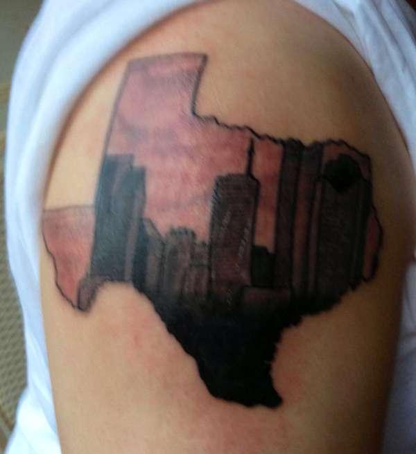 Houston skyline tattoo for Houston texans tattoo