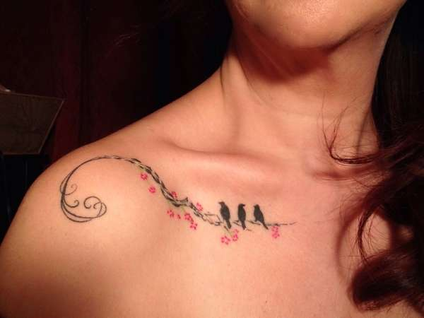 3 Little Birds~ Collar bone tattoo