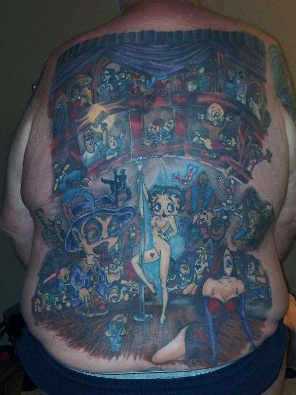 Cartoon Strip Club tattoo