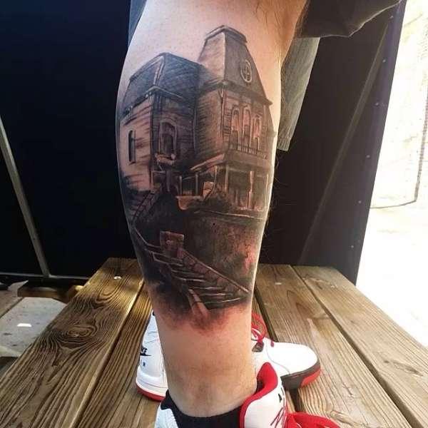 Bates House by Pete Carreno tattoo