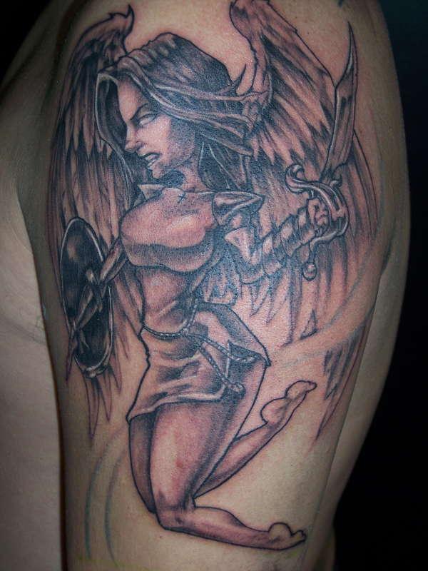 angel by k.gormley tattoo