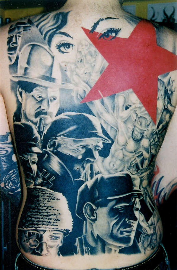 Soviet star tattoo