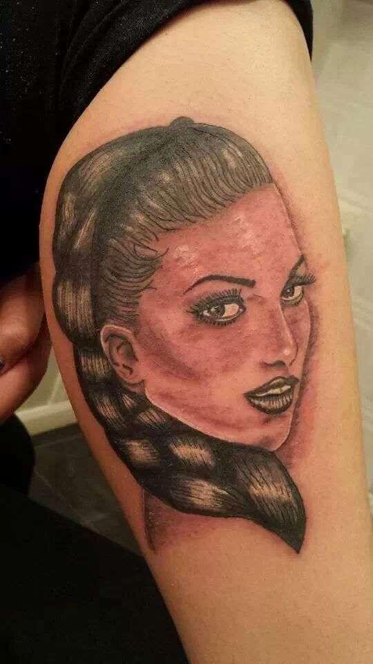 model portrait tattoo