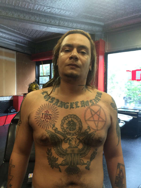 Inverted Pentagram Ihs Society Of Jesus Tattoo